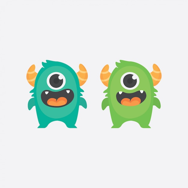 Personaje gemelo monstruo