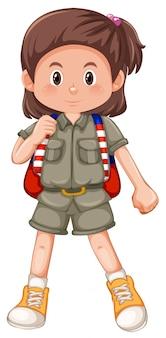 Un personaje de girl scouts