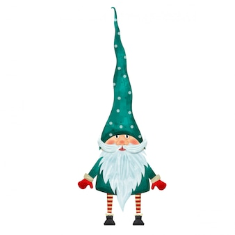 Personaje de gnomo de navidad aislado