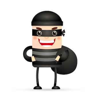 Personaje de hacker ladrón