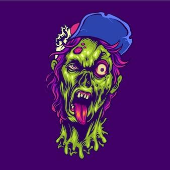 Personaje de halloween adolescente zombie