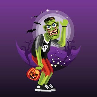 Personaje de halloween frankenstein