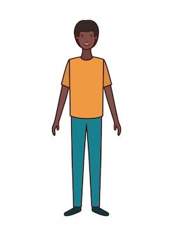 Personaje de hombre joven avatar