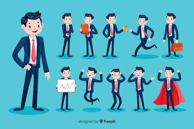 Personaje de hombre de negocios en 3d