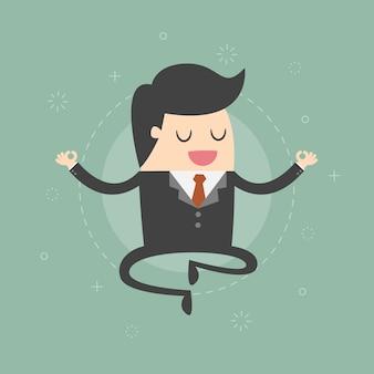Personaje de hombre de negocios relajándose