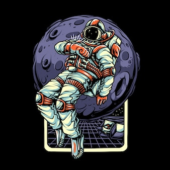 Personaje de ilustración astronout