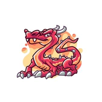 Personaje de ilustración de dibujos animados de dragones