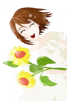 Personaje japonés anime girl
