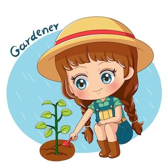Personaje jardinero