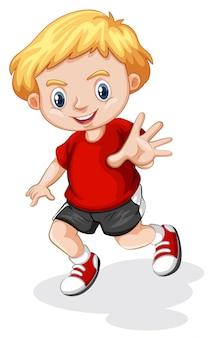 Personaje joven chico rubio