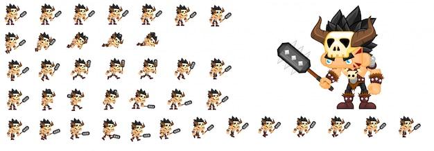 Personaje del juego bárbaro