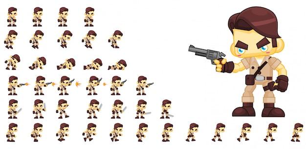 Personaje del juego cazador