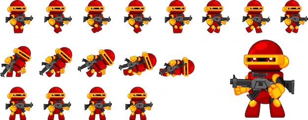 Personaje de juego de robot