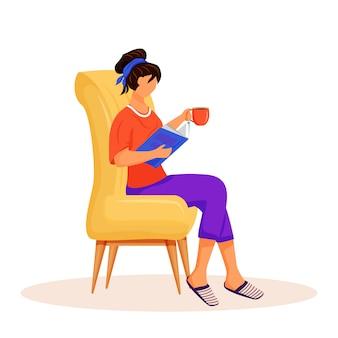 Personaje de libro de lectura de mujer