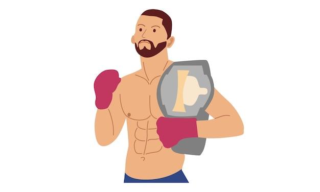 Personaje de luchador de boxeo