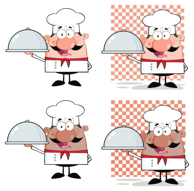 Personaje de la mascota de dibujos animados chef