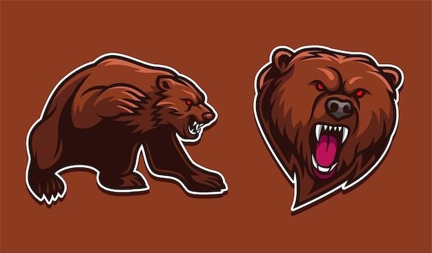 Personaje de mascota oso