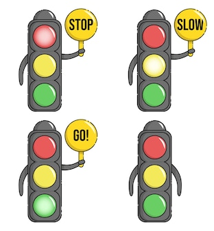 Personaje de mascota de semáforo