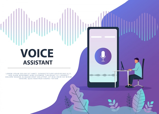 Personaje masculino con control de voz para su teléfono