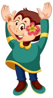 Un personaje mono femenino