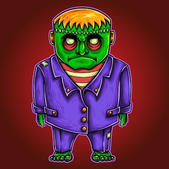 Personaje del monstruo de halloween frankenstein