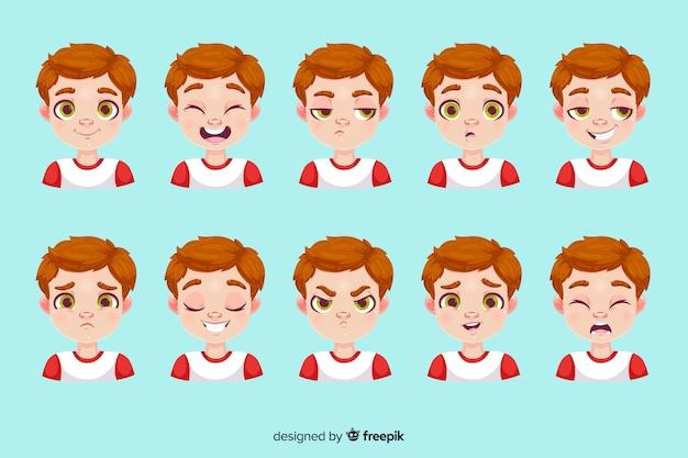 Personaje mostrando emociones