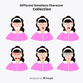 Personaje mostrando sentimientos