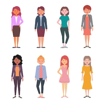 Personaje de mujer diferente