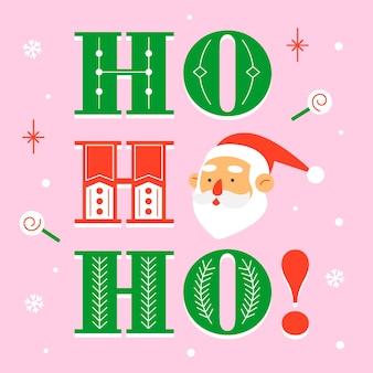 Personaje de navidad con letras