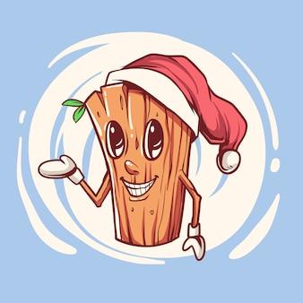 Personaje de navidad de madera