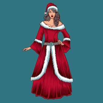 Personaje de navidad mujer
