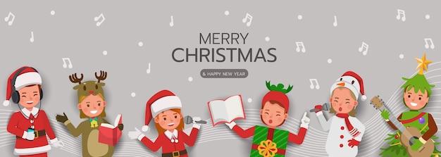 Personaje de navidad para tarjeta, banner y fondo.