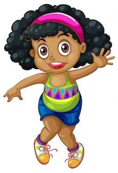 Un personaje de niña africana