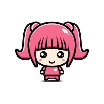 Personaje de niña linda
