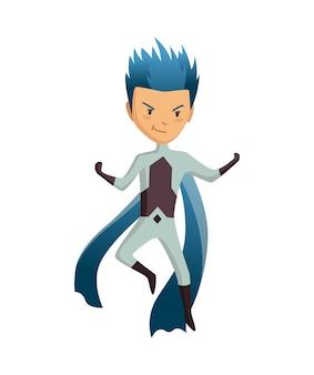 Personaje de niño superhéroe de dibujos animados