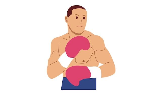 Personaje de pelea de boxeador