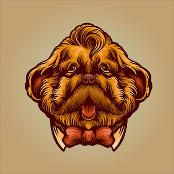 Personaje de perro caballero para movember