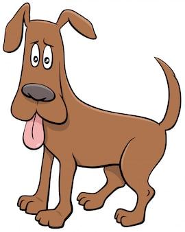 Personaje de perro de dibujos animados con lengua sacada