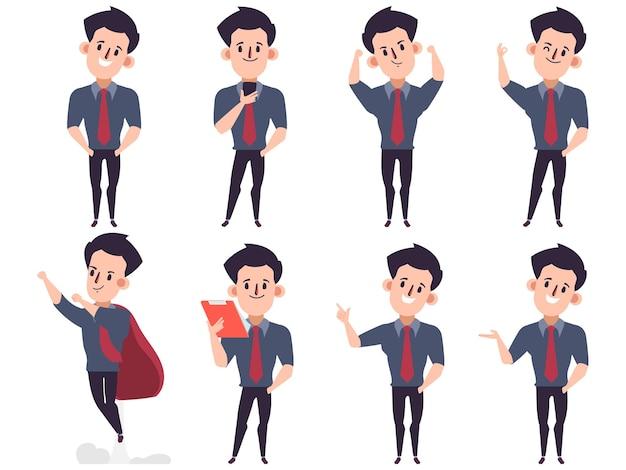 Personaje de presentación positiva de empresario