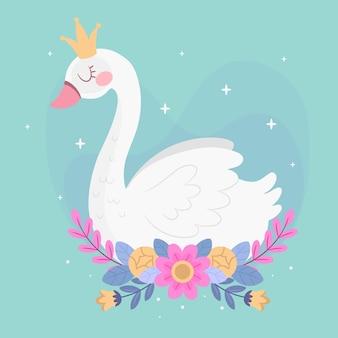 Personaje de princesa cisne