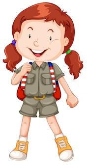 Un personaje de scout pelirrojo