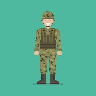 Personaje soldado del ejército