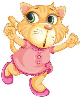 Un personaje de tigre bebé.