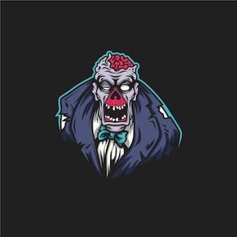 Personaje zombie aislado
