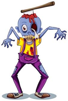 Un personaje zombie
