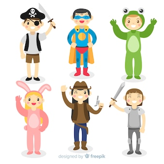 Personajes de carnaval disfrazados