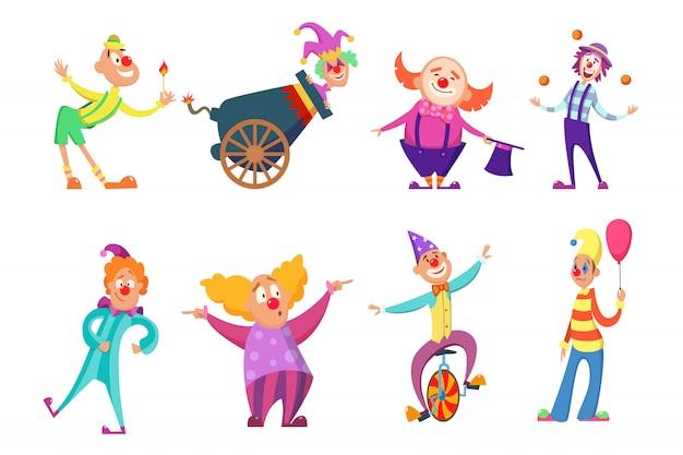 Personajes de circo.