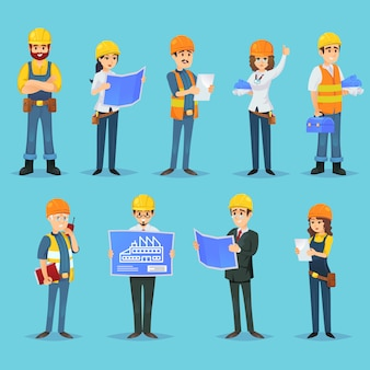 Personajes de constructores y constructores.