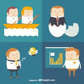 Personajes de consultoría y negocios