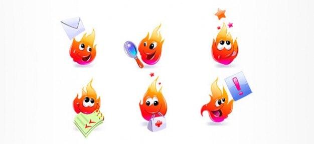 Personajes de dibujos animados de incendios